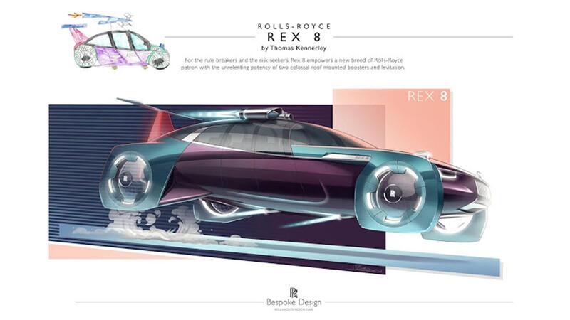 Rolls-Royce premia a un niño de 8 años, por su diseño de un auto futurista