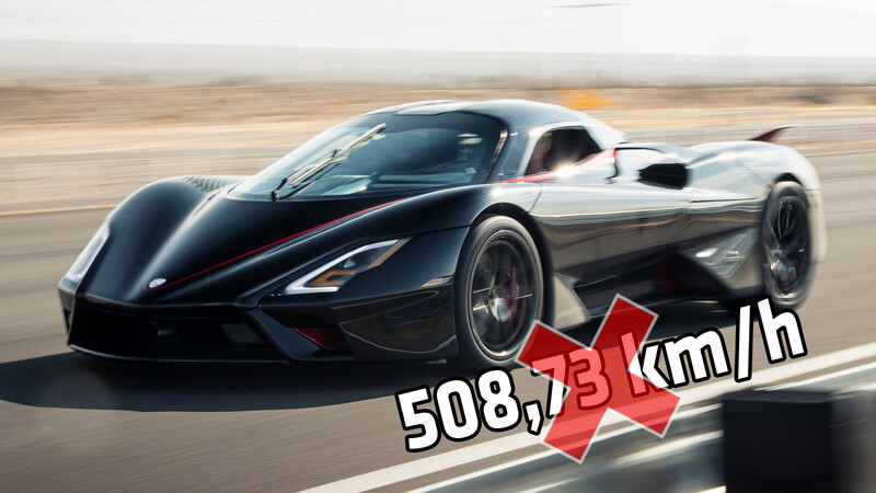 Fake news: SSC admite que el Tuatara nunca superó los 500 km/h
