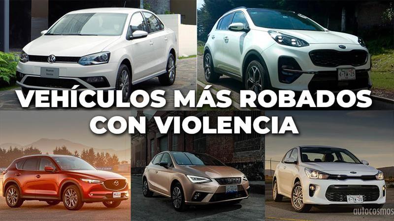 Los autos más robados con violencia de marzo 2019 a febrero 2020 en México