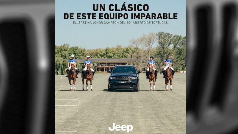 Jeep acompañó la victoria de Ellerstina en el Abierto de Tortugas