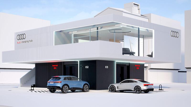 Audi propone estaciones de recarga rápida VIP para sus eléctricos