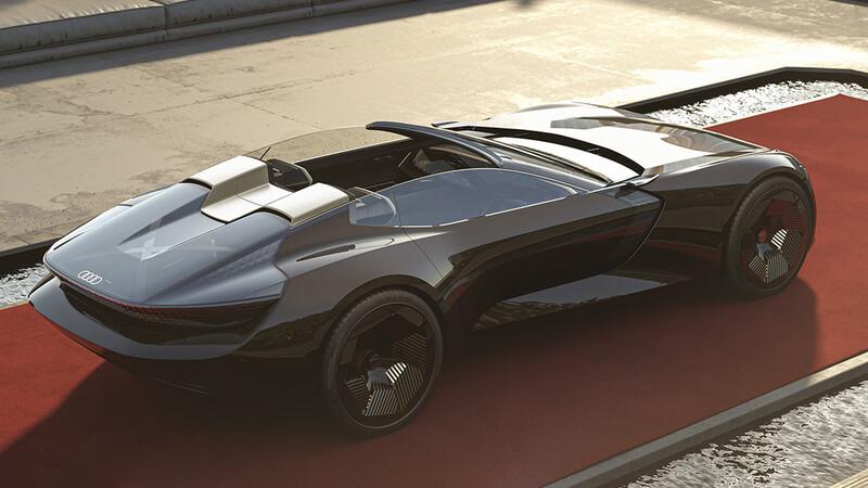 Audi Skysphere Concept, un exquisito y futurista biplaza que puede cambiar de tamaño