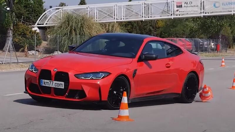 Al nuevo BMW M4 no le va tan bien en el Test del Alce