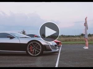 Video: Rimac Concept One Vs. Ferrari LaFerrari ¡Gran duelo!