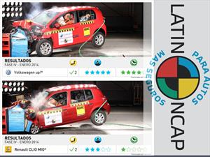 VW up! y Clio Mio en la Latin NCAP