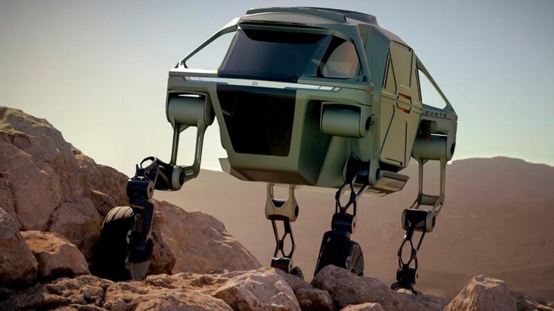 Hyundai prepara un vehículo que combine sus ruedas, con piernas