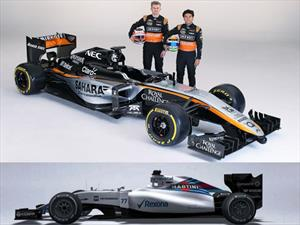 F1: Force India mostró su nuevo bólido y Williams adelanta el FW37