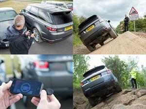 Jaguar Land Rover mostró una Range Rover Sport a control remoto