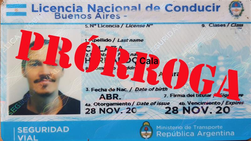 Prorroga de las licencias de conducir en CABA y Buenos Aires