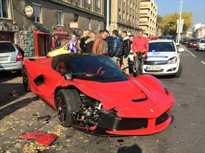 Ferrari LaFerrari fue estrellado en Hungría