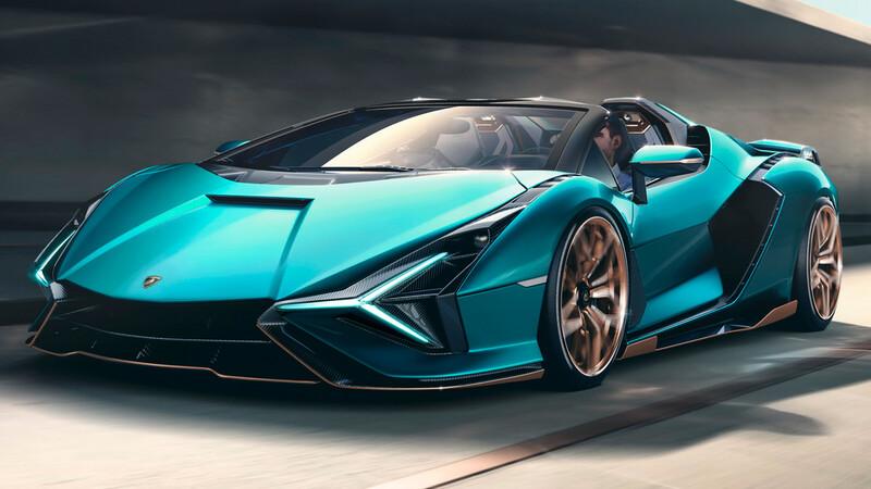 Lamborghini Sián Roadster, el convertible más poderoso de la marca es híbrido