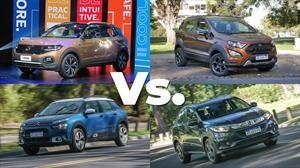 Volkswagen T-Cross Vs. la competencia