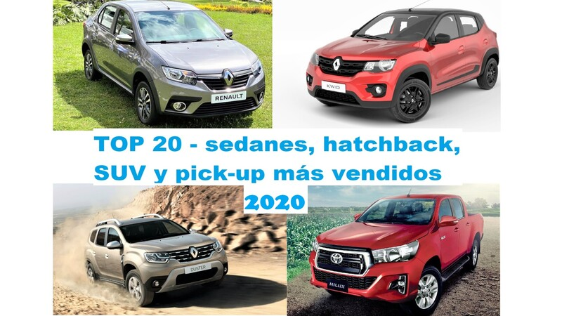 Top 20 - sedanes, hatchback, SUV y pick-up más vendidos en Colombia en 2020