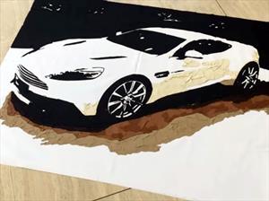 Un Aston Martin Vanquish creado con cuero