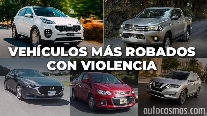 Los autos más robados con violencia de septiembre 2019 a agosto 2020 en México