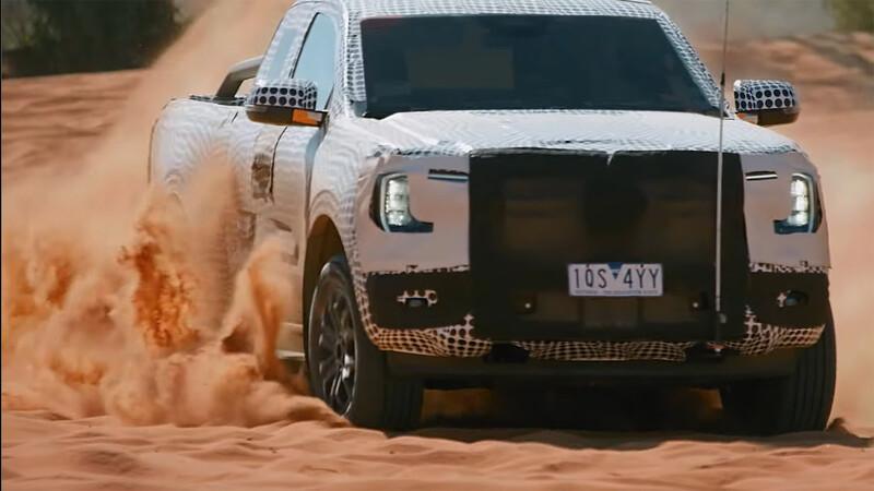 Nueva Ford Ranger llega en 2022 y ya la vemos en acción
