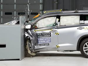 Toyota Highlander 2016 obtiene el Top Safety Pick+ del IIHS