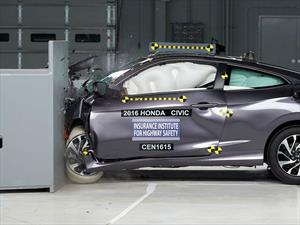Honda Civic Coupé 2016 calificado como Top Safety Pick+ por el IIHS
