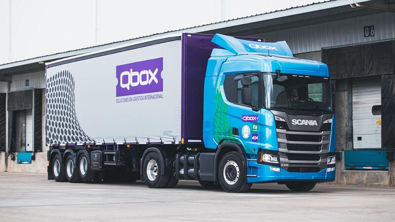 QBox recibe el primer Scania con GNC de la Argentina