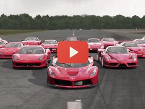 Video: El Forza 5 le rinde un espectacular homenaje a Ferrari