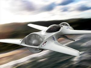 DeLorean viaja al futuro con un auto volador