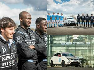 Pilotos de Nissan GT Academy y futbolistas del Manchester City intercambian trabajos