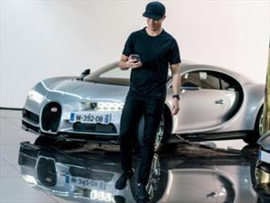 Cristiano Ronaldo agrega un Bugatti Chiron a su colección de autos