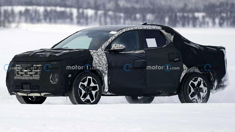Hyundai saca a pasear a la nieve a la nueva Santa Cruz