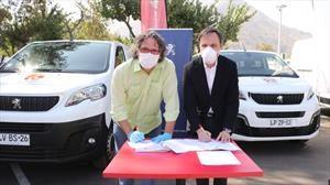 Peugeot Chile hace aporte a comuna de Huechuraba en el marco del Covid-19