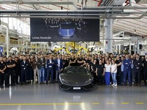 Lamborghini produce 8,000 unidades del Huracán