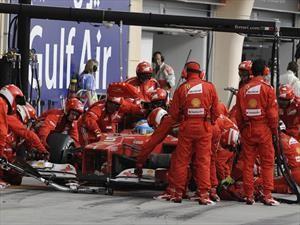 Ferrari se anota el cambio de neumáticos más rápido del oeste