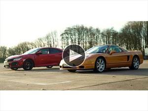 Video: Honda Civic Type R vs Honda NSX de 2005... ¿quién gana?
