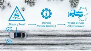 Mercedes-Benz comienza pruebas para mejorar su protocolo Car-to-X en conducción invernal