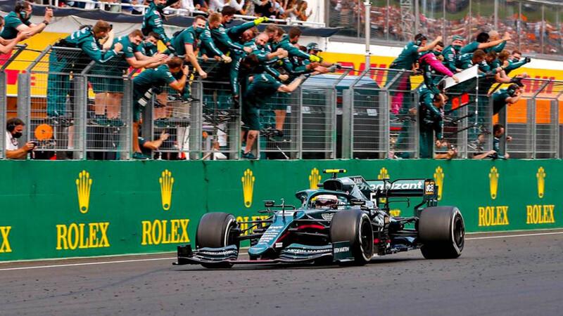F1 GP de Hungría 2021 (parte 2) A Sebastian Vettel le duró poco la alegría… Hamilton, agradece