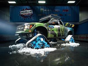 Ford F-150 SVT Raptor adaptada para la nieve