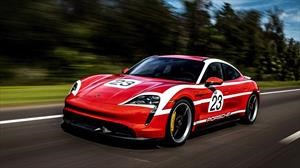 ¿Cómo ves al nuevo Taycan con decoraciones históricas de Porsche?