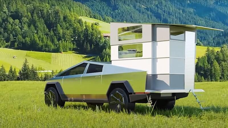 Video: así es el carretón rodante adaptado al Tesla Cybertruck
