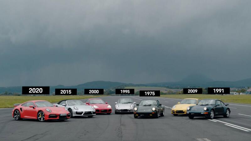 Todas las generaciones del Porsche 911 Turbo compiten en el 1/4 de milla