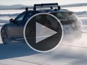 Video: Jaguar XF se queda con un récord en la nieve