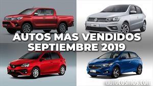 Los 10 autos más vendidos en Argentina en septiembre de 2019