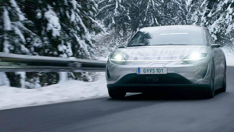 Vision-S, el primer auto eléctrico de Sony, ya se encuentra en fase de pruebas