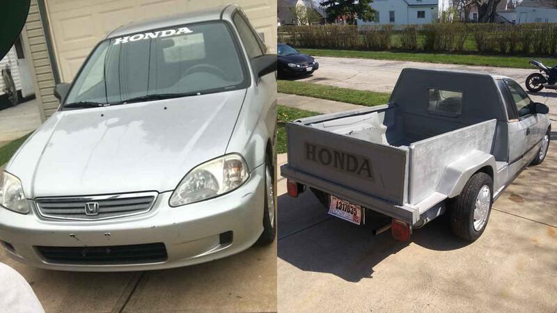 ¡Convierten Honda Civic en una pick-up!