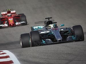 F1 2017 GP de EE.UU.: Hamilton gana y Mercedes festeja