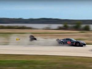 Video: Corvette con 3,000 hp se salva de un accidente