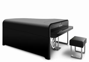 Un piano de cola diseñado por Audi
