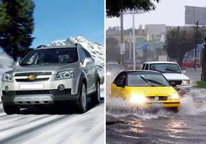Recomendaciones para conducir en vías mojadas y con hielo