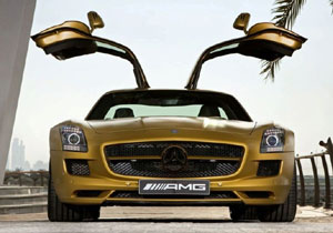 Mercedes SLS AMG Gold Desert Edition