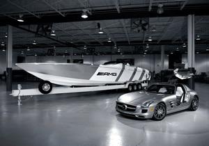 Una lancha de Mercedes-Benz inspirada en su Alas de Gaviota