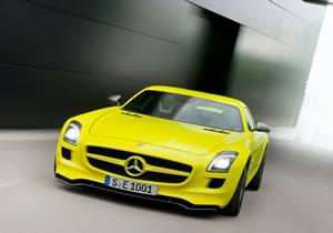 Mercedes Benz SLS E-Cell, un alas de gaviota eléctrico