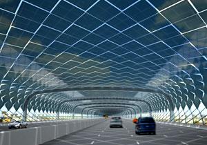 Autopistas recubiertas de paneles solares, el camino de la serpiente
